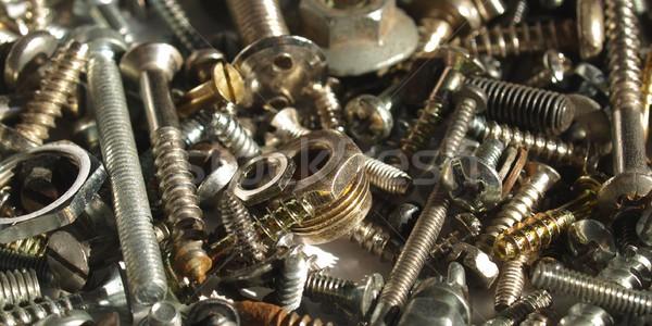 ハードウェア 産業 鋼 ナッツ 背景 鉄 ストックフォト © claudiodivizia