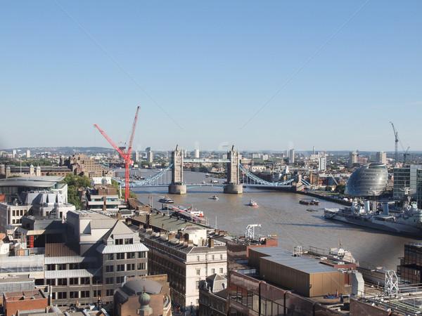 Tower Bridge Londra nehir thames su Avrupa Stok fotoğraf © claudiodivizia