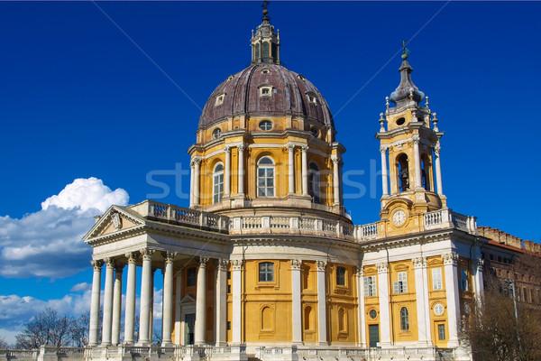 Bazilika Torino barokk templom domb Olaszország Stock fotó © claudiodivizia