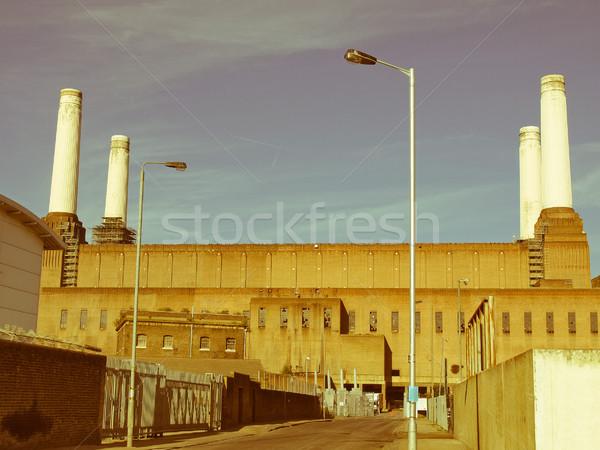 ретро глядя Лондон Vintage посмотреть электростанция Сток-фото © claudiodivizia