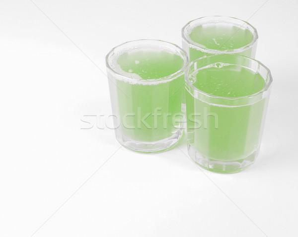 Groene appelsap bril continentaal ontbijt tabel appel Stockfoto © claudiodivizia