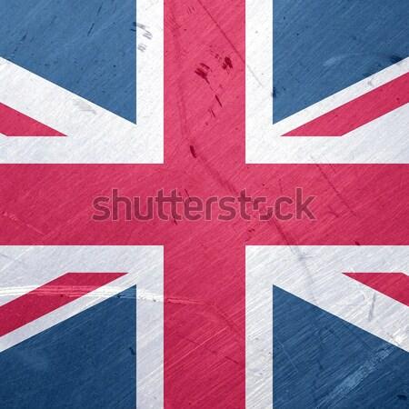 Union jack vlag grunge illustratie Verenigd Koninkrijk achtergrond Stockfoto © claudiodivizia