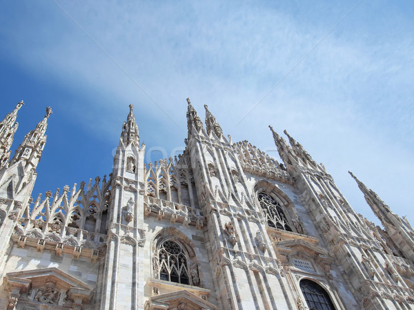 Милан Италия Готский собора Церкви Сток-фото © claudiodivizia