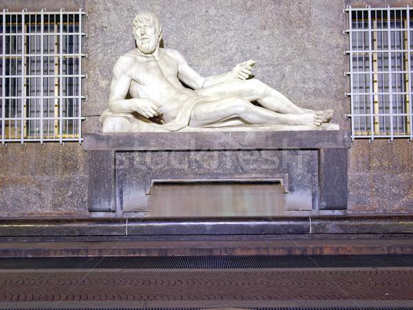 Po Statue, Turin Stock photo © claudiodivizia
