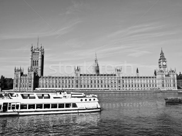 Huizen parlement westminster paleis Londen gothic Stockfoto © claudiodivizia