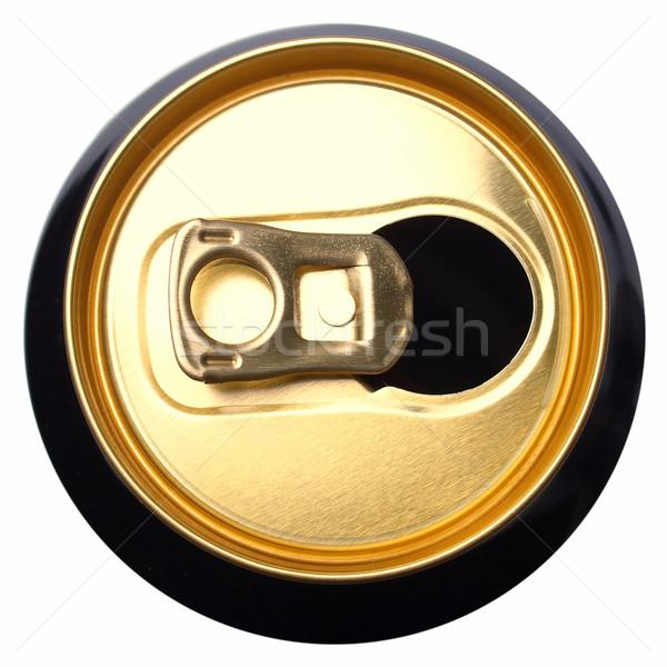 Sör konzerv konzervdoboz alkoholos ital izolált fehér Stock fotó © claudiodivizia