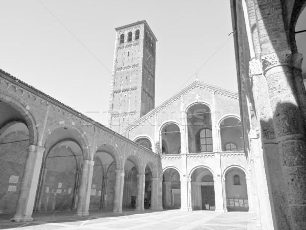 Kerk milaan basiliek Italië retro witte Stockfoto © claudiodivizia