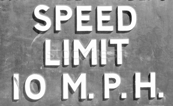 Speed limit sign Stock photo © claudiodivizia
