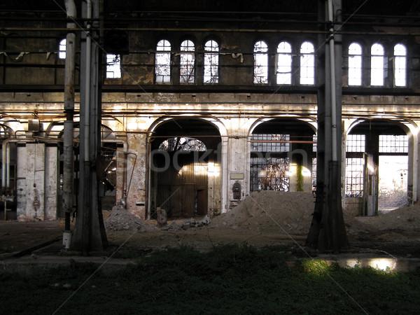 捨てられた 工場 産業 遺跡 古い 光 ストックフォト © claudiodivizia
