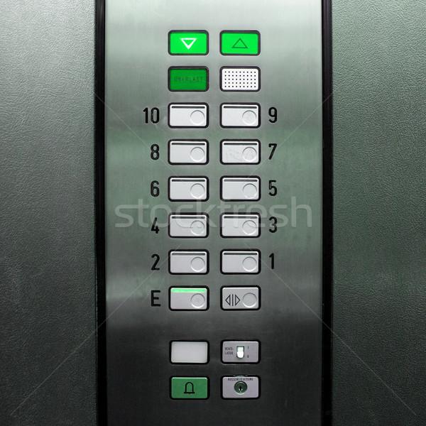 Wyciąg windy szczegół kluczowych świetle Zdjęcia stock © claudiodivizia