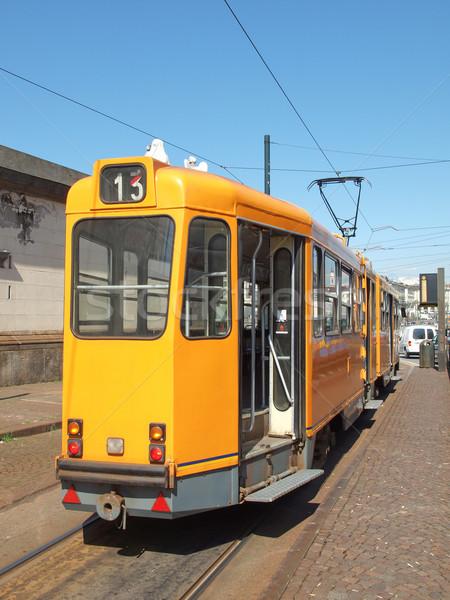трамвай поезд общественном транспорте масса транзит Сток-фото © claudiodivizia