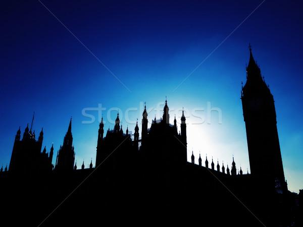 Evler parlamento goth gece görmek siluet Stok fotoğraf © claudiodivizia