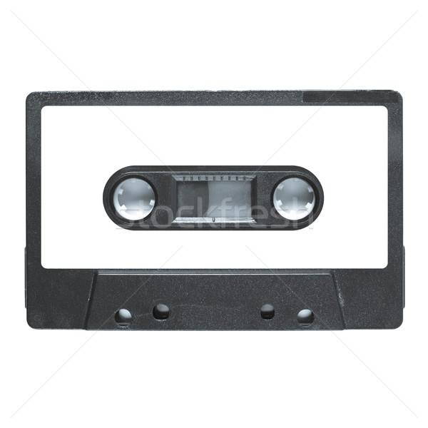 Taśmy kaseta magnetyczny audio muzyki odizolowany Zdjęcia stock © claudiodivizia