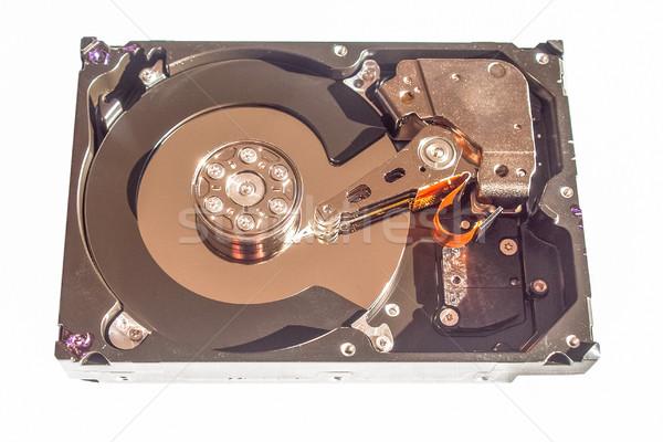 Stock fotó: Merevlemez · részlet · számítógép · adattárolás · izolált · fehér