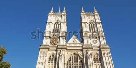 Westminster abbaye église Londres rétro Angleterre Photo stock © claudiodivizia