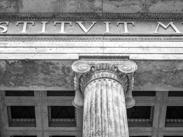 Берлин музее древности Германия черно белые здании Сток-фото © claudiodivizia