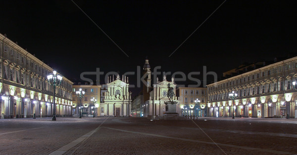Piazza San Carlo, Turin Stock photo © claudiodivizia