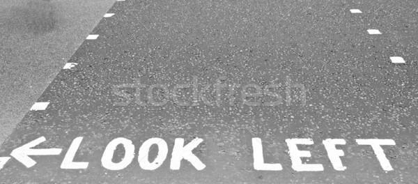 Stockfoto: Kijken · teken · Londen · straat · weg · Europa