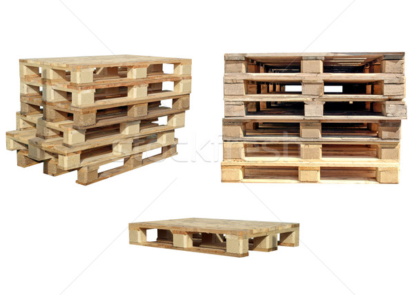 Pallets isolated Stock photo © claudiodivizia