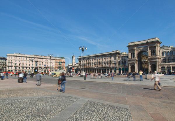 Piazza Duomo, Milan Stock photo © claudiodivizia