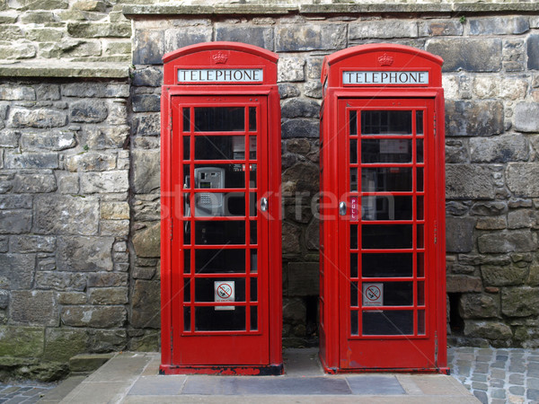 London Telefon Feld traditionellen rot Skyline Stock foto © claudiodivizia