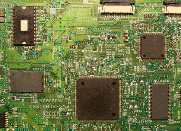 Wydrukowane obwodu szczegół elektronicznej komputera Zdjęcia stock © claudiodivizia