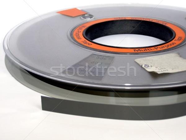Szalag tekercs mágneses számítógép adattárolás zene Stock fotó © claudiodivizia