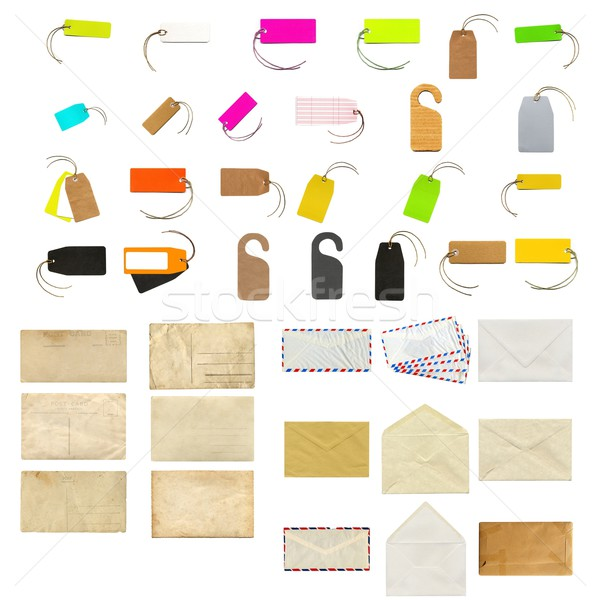 Schreibwaren Collage Etiketten Tags Business Papier Stock foto © claudiodivizia