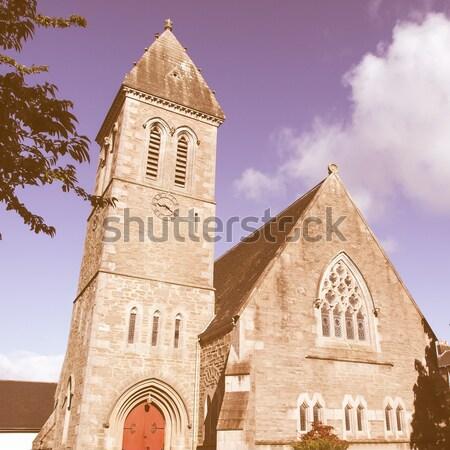 Kirche Glasgow Schottland Gebäude Bau Design Stock foto © claudiodivizia