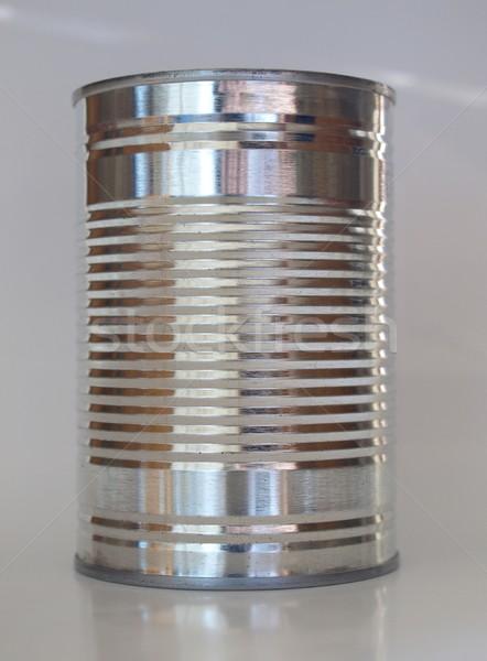 Tin kan blikken behoud object maaltijd Stockfoto © claudiodivizia