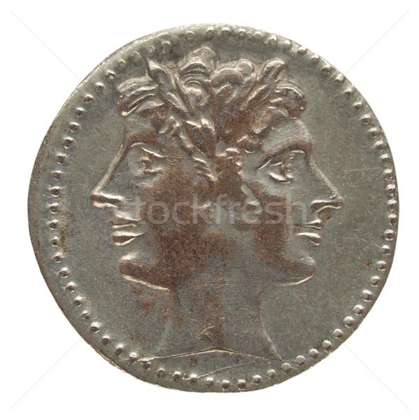 римской монеты древних изолированный белый деньги Сток-фото © claudiodivizia