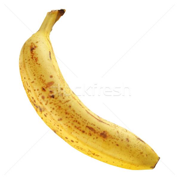 Bananen Obst isoliert weiß Essen Hintergrund Stock foto © claudiodivizia
