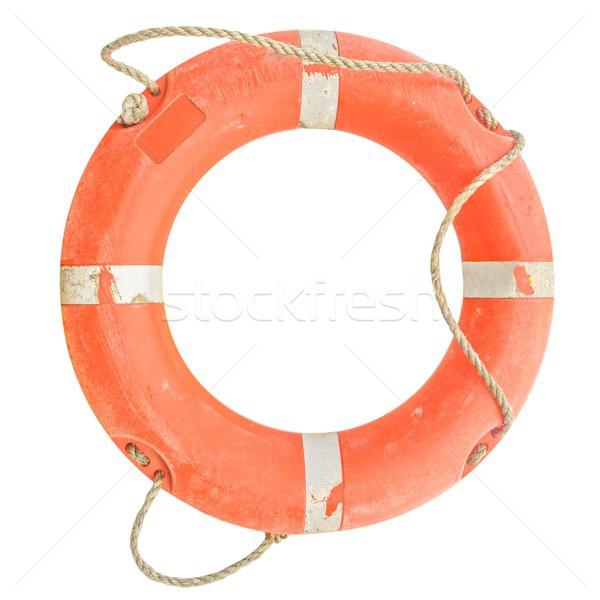 Reddingsboei foto geïsoleerd oranje water zee Stockfoto © claudiodivizia