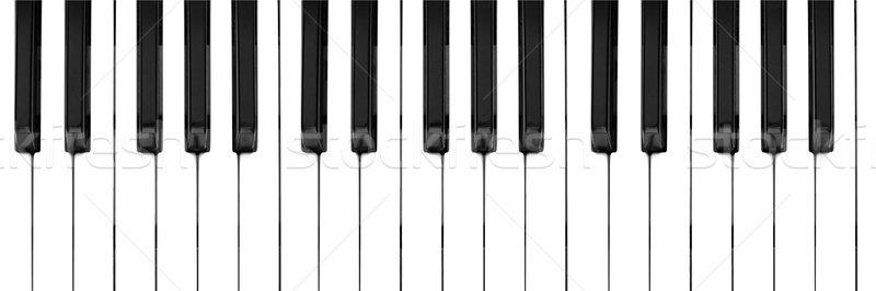 Zene billentyűzet feketefehér kulcsok fekete Stock fotó © claudiodivizia