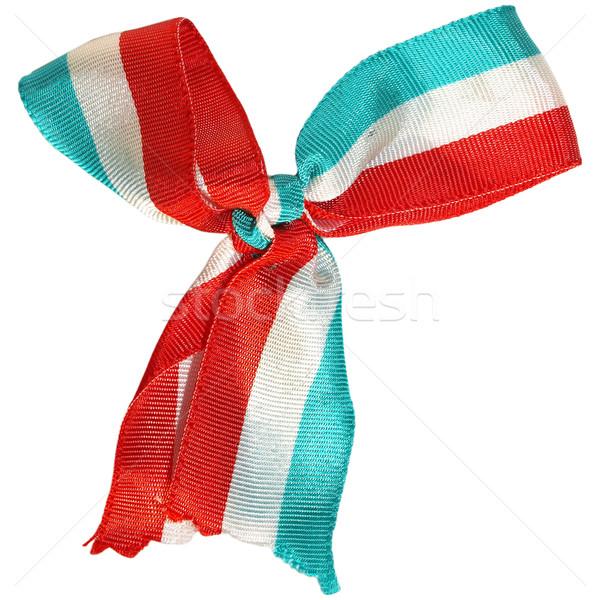 Vlag geïsoleerd witte patroon gesneden materiaal Stockfoto © claudiodivizia