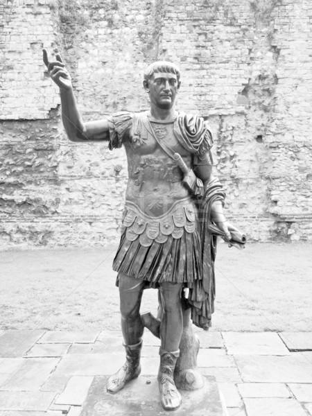 Empereur statue anciens romaine Londres rétro Photo stock © claudiodivizia