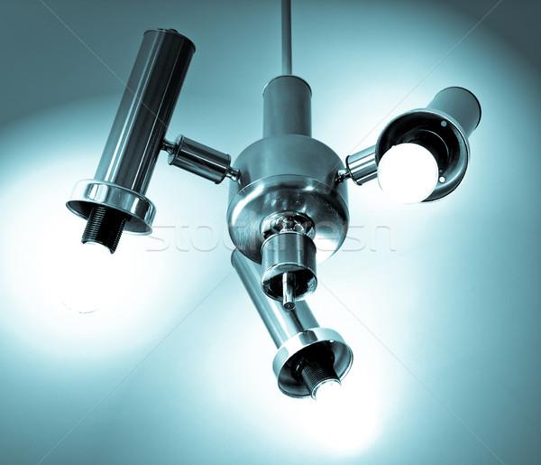 Lampadario foto lampade bianco blu cool Foto d'archivio © claudiodivizia