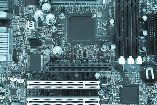 Wydrukowane obwodu szczegół elektronicznej cool Zdjęcia stock © claudiodivizia