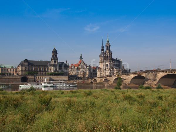 Dresden Hofkirche Stock photo © claudiodivizia