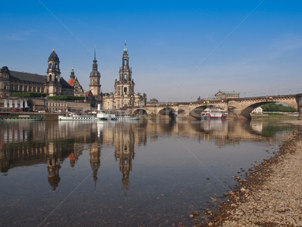 Dresde cathédrale Allemagne Photo stock © claudiodivizia