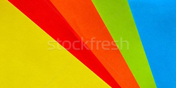 Papier rouge jaune orange vert Photo stock © claudiodivizia