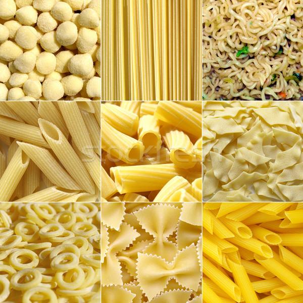 Stock photo: Pasta collage