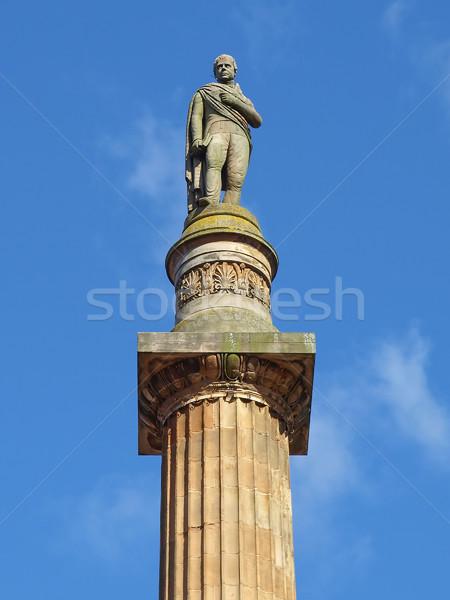 Glasgow colonna piazza Scozia scultura scrittore Foto d'archivio © claudiodivizia