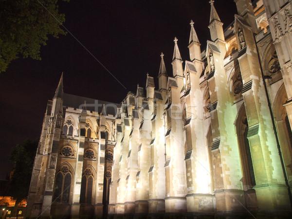 Вестминстерский аббатство Церкви Лондон ночь мнение Сток-фото © claudiodivizia