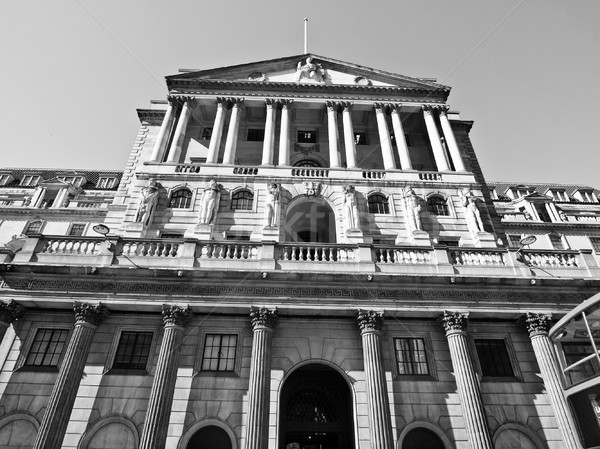 Bank Engeland historisch gebouw Londen retro Stockfoto © claudiodivizia