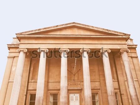 Canada huis Londen vierkante Engeland home Stockfoto © claudiodivizia