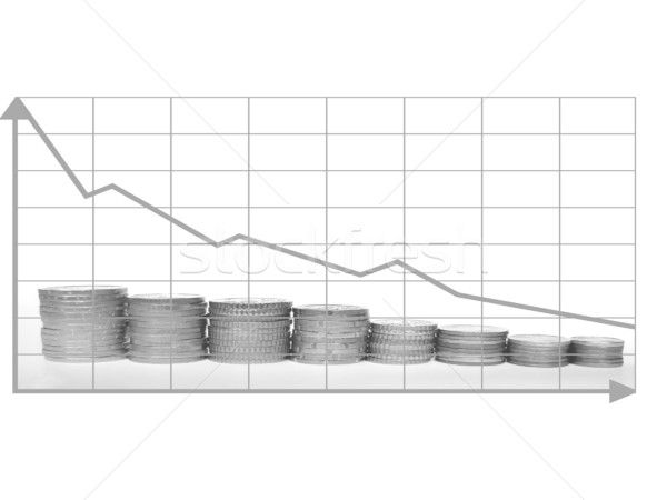 Crisis chart Stock photo © claudiodivizia