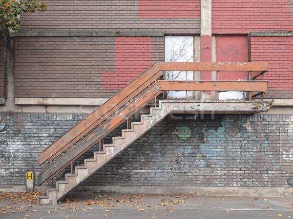 Old industrial stair Stock photo © claudiodivizia