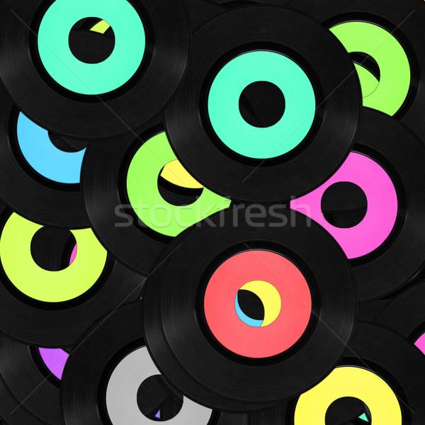 Record vinyl vintage analoog muziek rock Stockfoto © claudiodivizia
