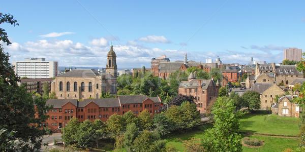 Glasgow Ansicht Stadt Schottland Landschaft Panorama Stock foto © claudiodivizia